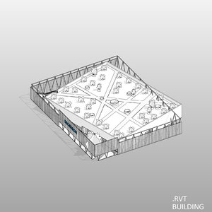 3D revit building