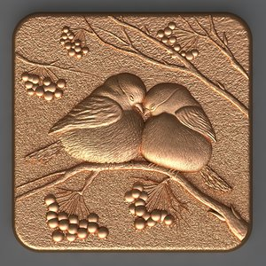 bird soap chocolate 3D model