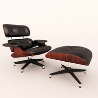 3D eames lounge chair ottoman