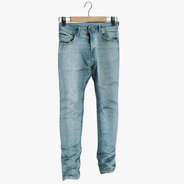 realistic jeans blue v10 3D model