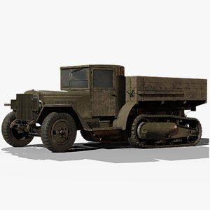 3D model soviet zis-42 gameready zis