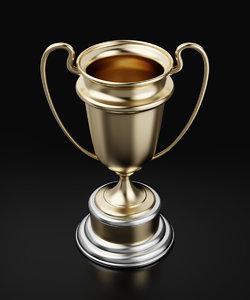 3d model of winners golden cup