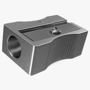 metal pencil sharpener 3D model