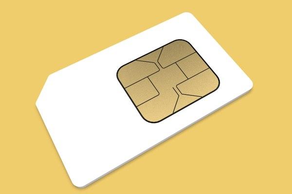 3D model subscriber sim card phones