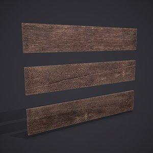 3D wood planks model