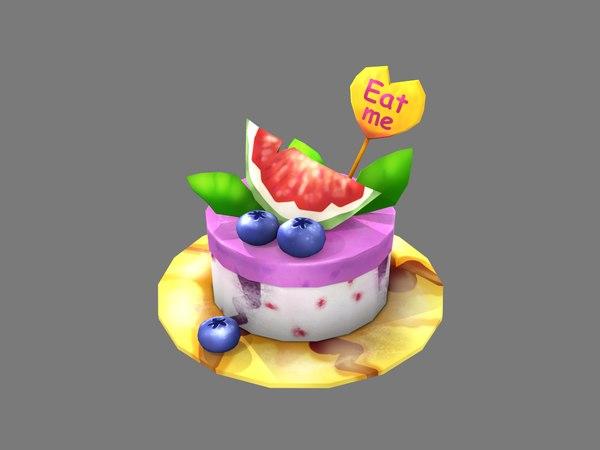 stylized pie 3D model