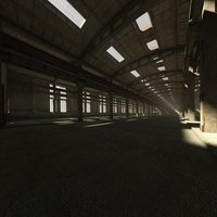 3D old abandoned hall
