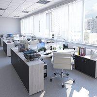 3D indoors room office