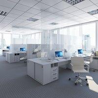 3D indoors room interior model