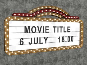 old marquee sign 3D model