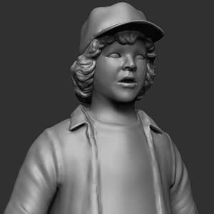 dustin henderson sculpt 3D model