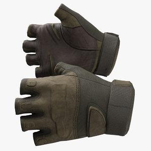 3D tactical glove model