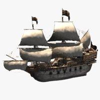 3D galleons details