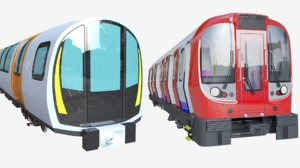 london underground glasgow metro train 3D