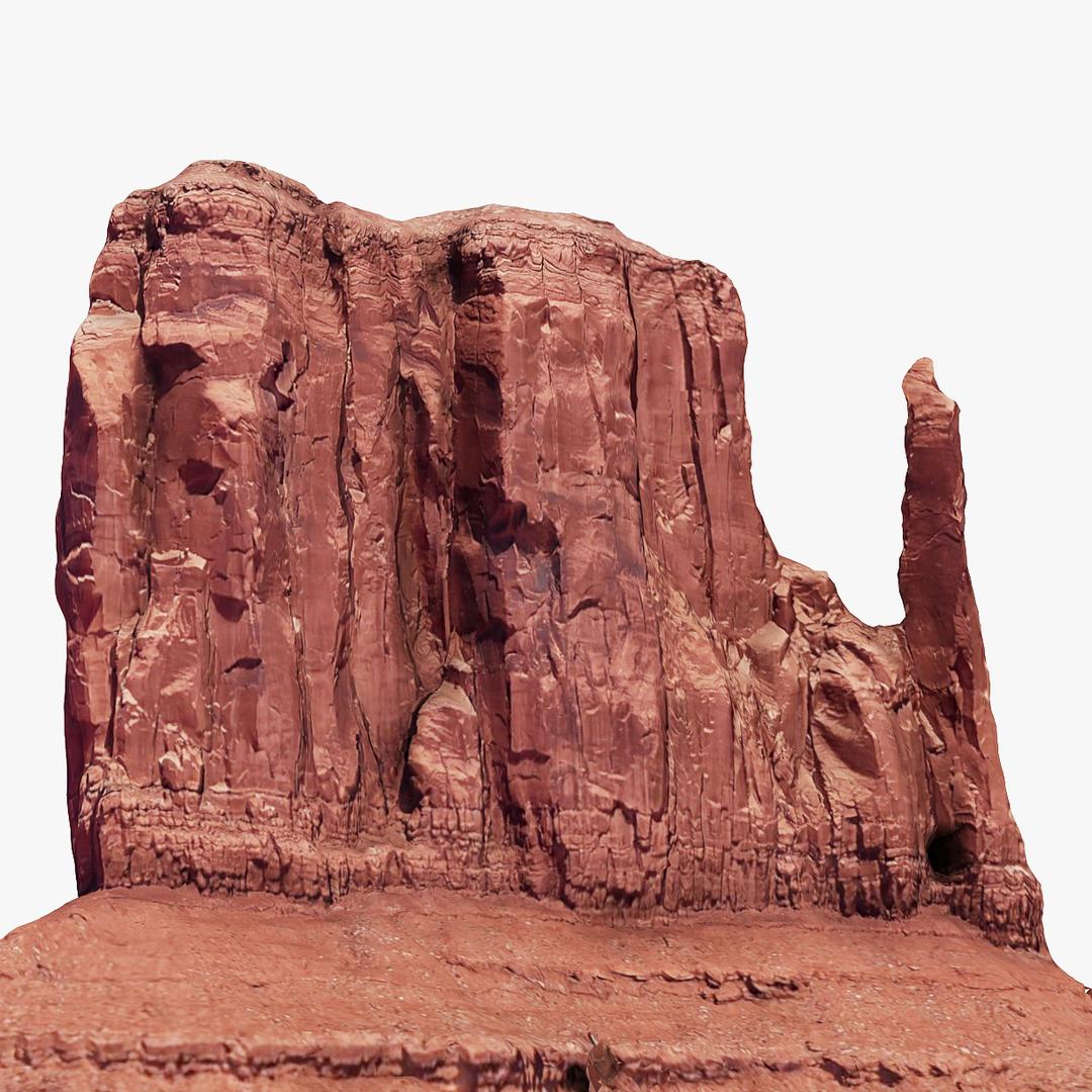 3D arizona monument valley 3 model
