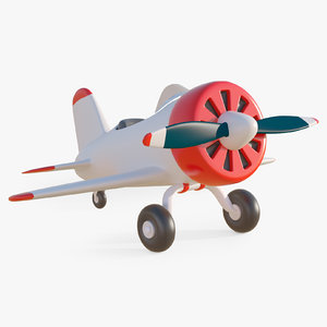 3D model cartoon toy airplane