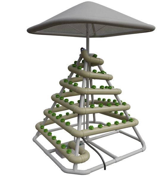 hydroponic 3D model