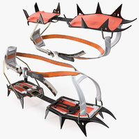 mountaineering crampons petzl vasak 3D model