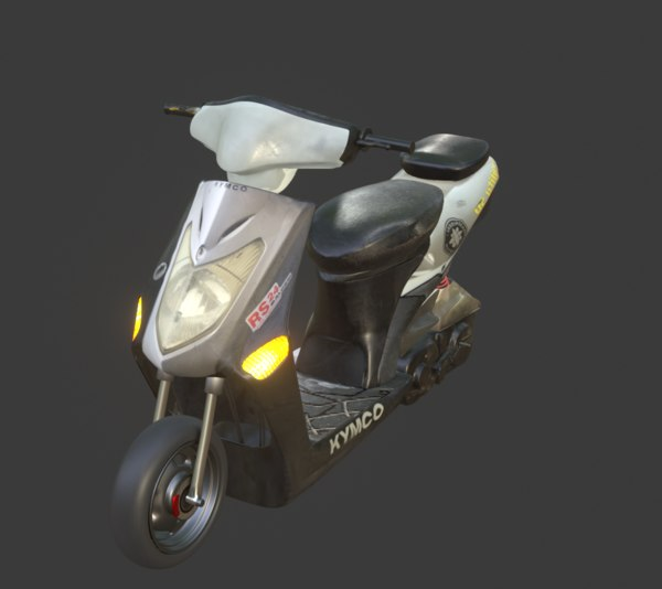 scooter unwraped overlaping 3D