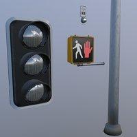 Traffic Light Crosswalk Set