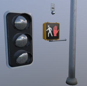 ready traffic light set 3D model