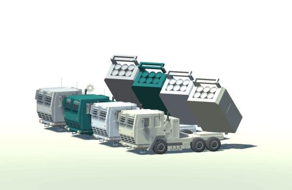 military mlrs vehicles 3D model