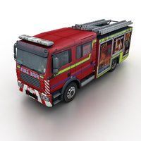 generic rescue truck 3D model