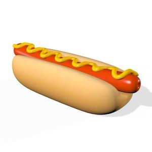 hotdog bread roll sandwich model