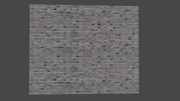 grey brick wall 3D