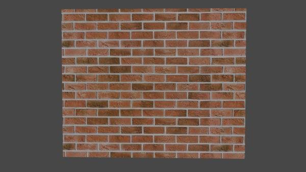 3D model red brick