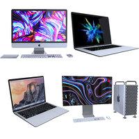 apple computers 2 mac pro 3D model