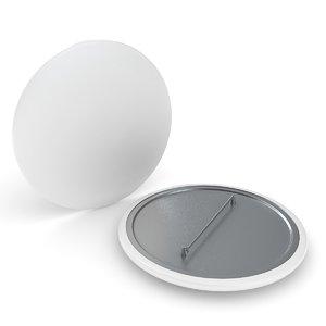 campaign button 3D model