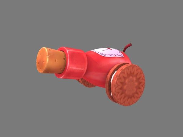 3D model bottle cannon