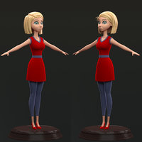 girl cartoon model