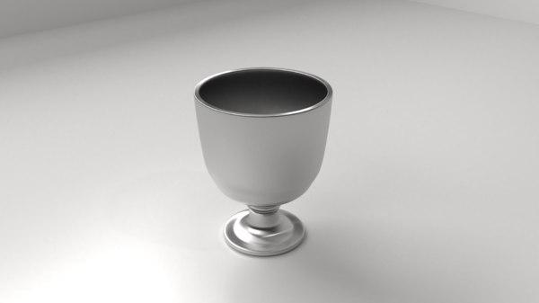 silver goblet model