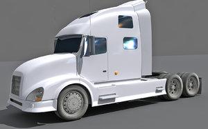 3D model white truck