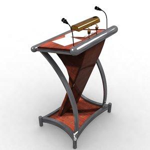 podium 3D model