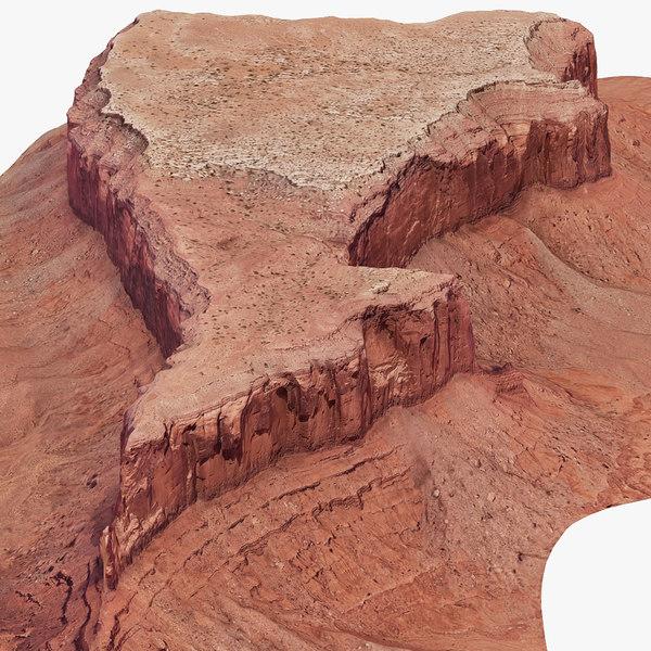 3D arizona monument valley model