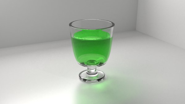 glass goblet liquid model