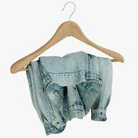 3D realistic jean jacket 2