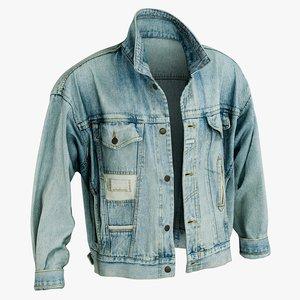 realistic jean jacket 2 3D