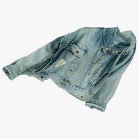 3D realistic jean jacket 2 model
