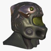 3D model sci-fi helmet