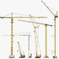 3D big tower crane