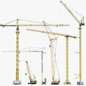 3D big tower crane
