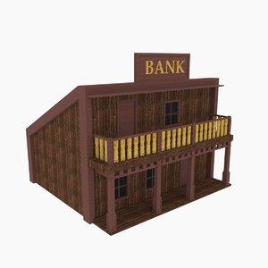 3D western bank