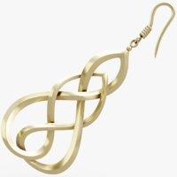 jewelry earrings apparel 3D