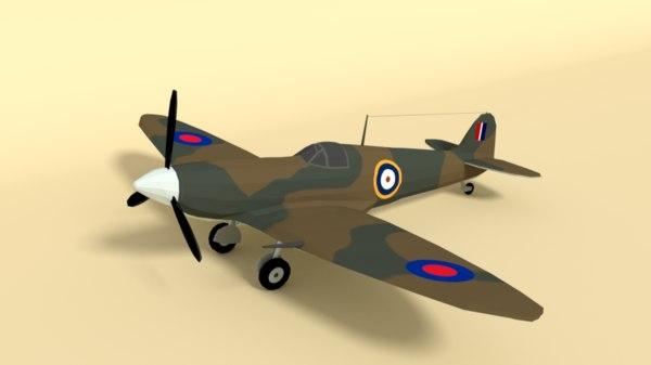 supermarine spitfire mkii airplane 3D model