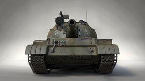 3D model soviet battle tank