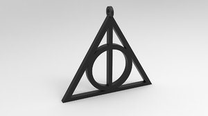 3D deathly hallows necklace printing